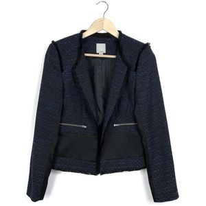 Nordstrom Halogen Tweed Frayed Brazer Jacket